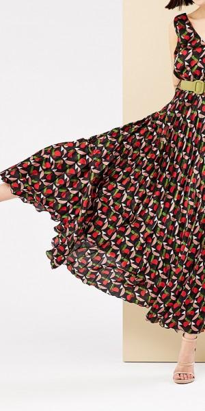 Φόρεμα μάξι εμπριμέ κρουαζέ