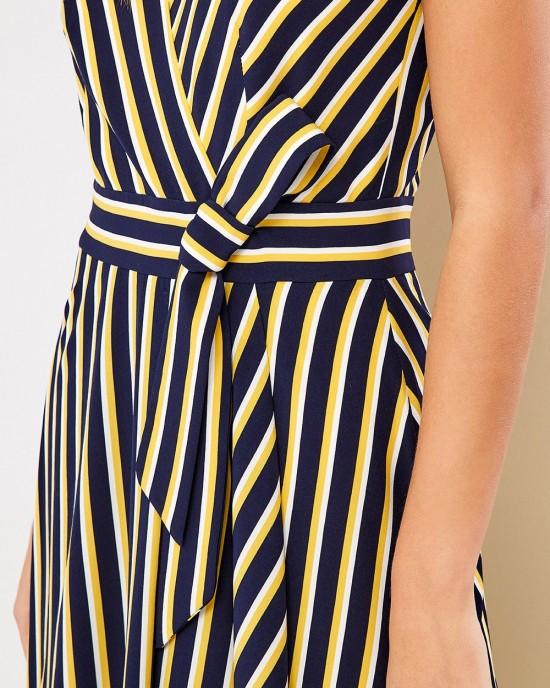 Φόρεμα μάξι ριγέ