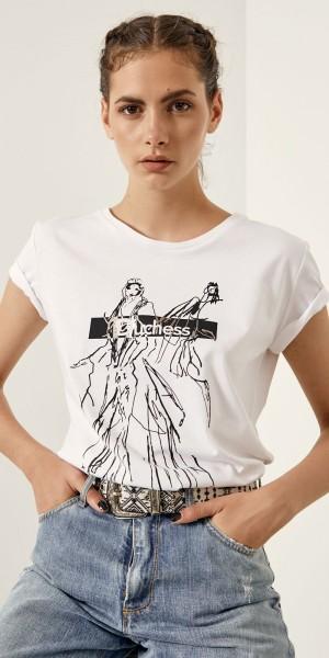T-shirt βαμβακερό με Duchess τύπωμα