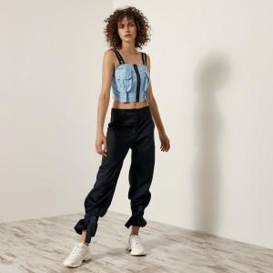 Μπλούζα-τοπ με τσέπες και φερμουάρ