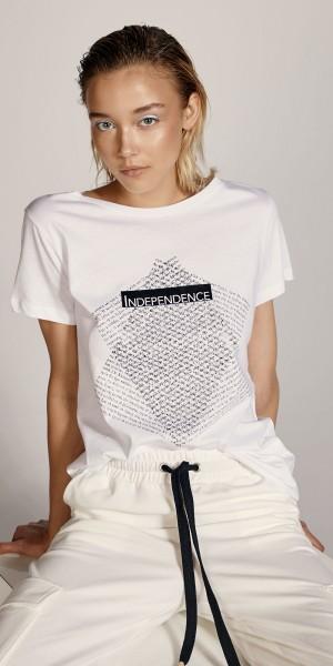 Βαμβακερή μπλούζα με τύπωμα Independence