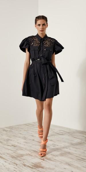 Σεμιζιέ φόρεμα με laser cut σχέδιο