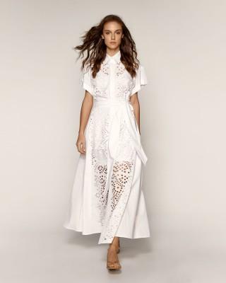 Φόρεμα σεμιζιέ με διάτρητο σχέδιο
