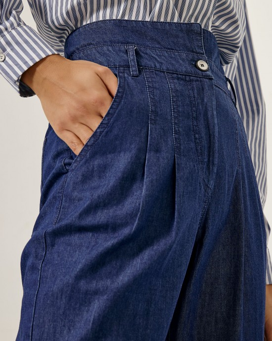 Denim baggy παντελόνι