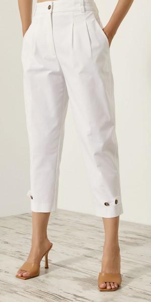 Παντελόνι cropped με κουμπιά κάτω